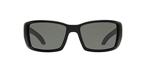 Costa Del Mar Men s Blackfin 580G Polarized Round Sunglasses, Matte Black Grey Polarized-580G, 62 mm