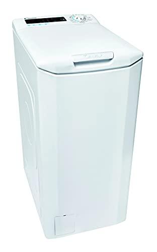 Candy Smart CSTGC 47TE/1-84 Waschmaschine Toplader / 7 kg/Smarte Bedienung mit NFC-Technologie/Mix Power System/Gentle Touch Öffnungsmechanismus Weiß