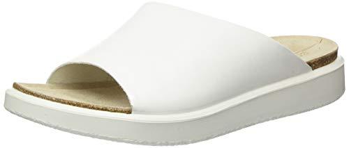 Ecco Damen CORKSPHERESANDAL Pantoffeln, Weiß (Bright White 1002), 37 EU