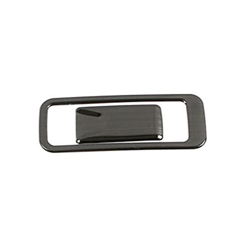 HMEILI Fit für Hyundai Creta IX25 2020 GLOVEBOX Handschuh Aufbewahrungsbox Anpassen des Schalters Taster Abdeckung Edelstahl Innenformaufkleber (Color Name : Black)