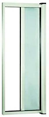 Zanzariera a rullo in alluminio per porte/balconi con profilo riducibile/regolabile avvolgimento orizzontale (120x250cm, Bianco)