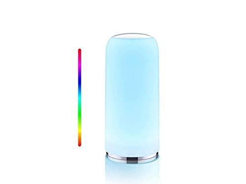 Lampada da tavolo, RGB Lampada da Comodino Intelligente con Funzione Timer, Controllo Tattile, Dimmerabile e Luce Variabile, Luce Notturna con Funzione di Memoria per Soggiorni e Camere da Letto
