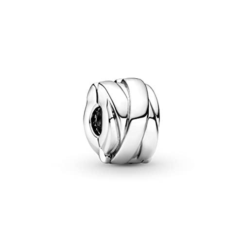 Pandora Pandora Moments Collection 799502C00 - Abalorio de plata de ley con cierre de clip
