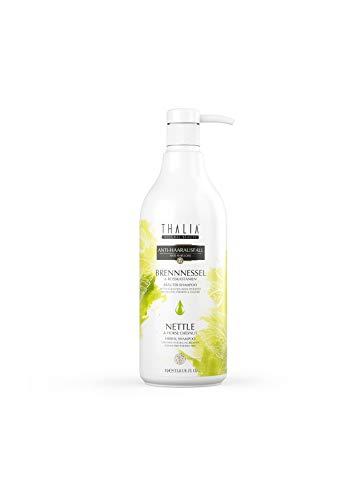 Thalia Brennnessel & Rosskastanien Kräuter Shampoo 1L - unterstützt den Haarwachstum   vegan   frei von Parabene, SLS/SLE   Naturprodukt  