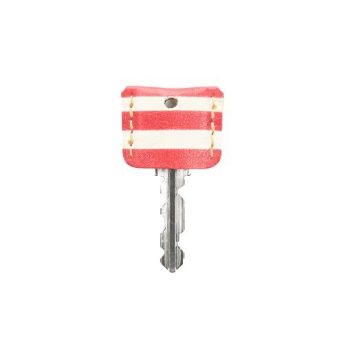 【鍵の服】キーカバー・キーキャップ アートシリーズ「ピカソ」本革 防犯 クアトロガッツ (バラの時代 ボーダー)