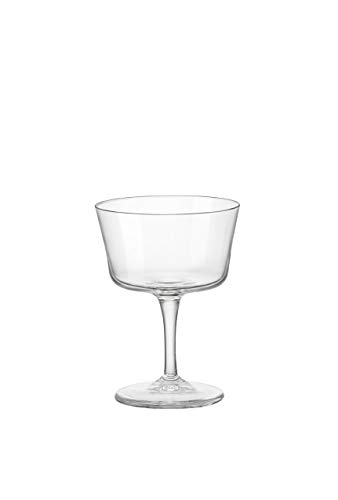 Bormioli Rocco 122114GRS021990 Novecento - Vaso para fizz (4 unidades), transparente