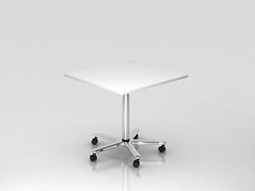 HAMMERBACHER VST88/W/C Tisch 80x80 cm weiß/chrom