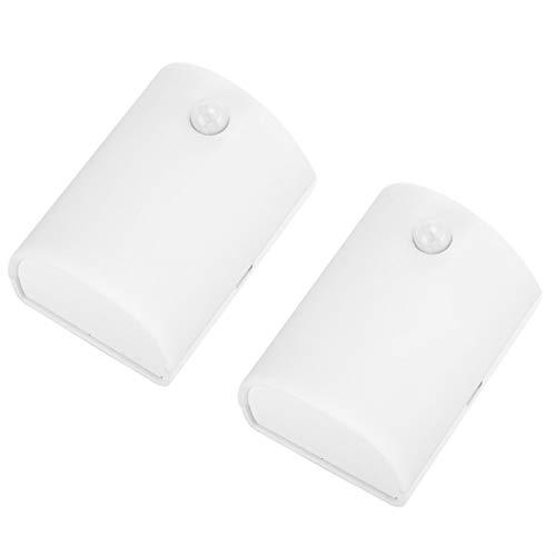 Oumefar Luz De Sensor para Gabinete, 3 Modos De Trabajo Luz De Sensor LED Estructural Razonable con 2 Placas De Metal para Baño para Gabinete para Pasillo