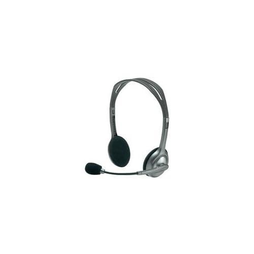 Logitech Stereo Headset H110 Micro-casque à filtrage de bruit Gris