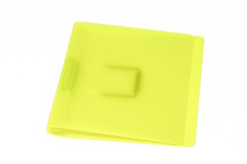 Schnellhefter, gelb mit flacher, elastischer Schlauchheftung