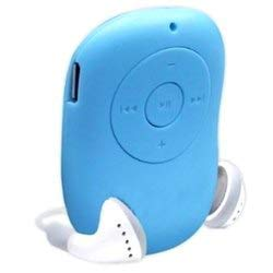 Kimloo Portable Mini Digital Mp3 Player with Earphone and USB Cable with SD Card Slot (Colour May Vary) (Curve)