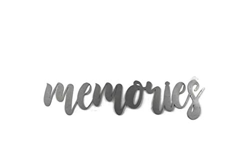 Memories Small Size Raw Steel Unpainted Word Art