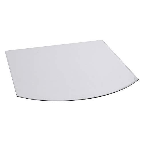 FIREFIX 1958/1 Glasbodenplatte (Hitzeschutz Ofen), Segmentbogen-Bodenplatte (1.000 x 1.200 x 1.000 mm), 8 mm Starkes Klarglas (Sicherheitsglas ESG) mit Facettenschliff (20 mm, umlaufend), Transparent