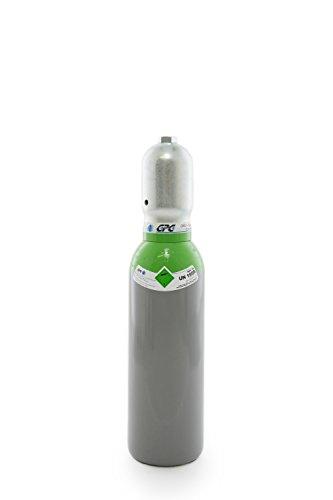 Druckluft 5 Liter Flasche,Pressluft 200 bar/NEUE Gasflasche (Eigentumsflasche), gefüllt - 10 Jahre TÜV ab Herstelldatum, EU Zulassung - Globalimport
