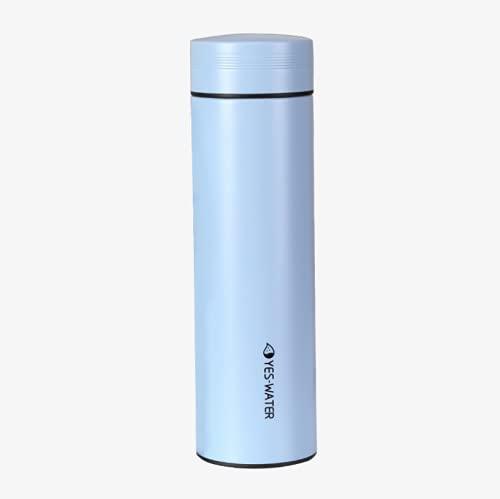 Nenka Botella isotérmica al vacío, de acero inoxidable, con separador de té, para casa, oficina, viaje, deporte (350 ml)