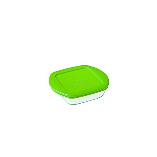 Pyrex Container / Aufbewahrungsbehälter, Deckel, transparent 14Cm Square