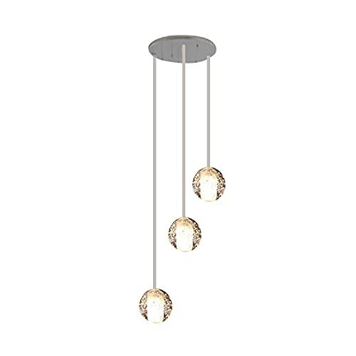 GLXLSBZ - Lámpara de techo de cristal con 3 luces para empotrar (casquillo G4, cromado)