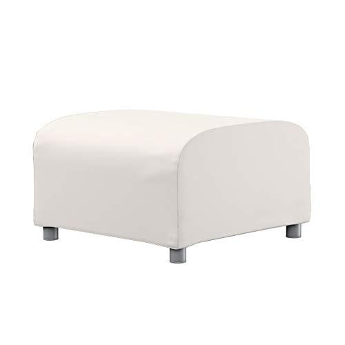 Dekoria Klippan Hockerbezug Sofahusse passend für IKEA Modell Klippan naturweiß