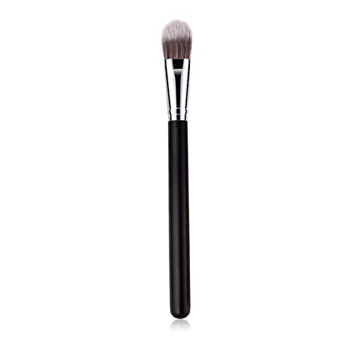 Rouku Foundation Brush Makeup Brushes Beauty Tools Poignée en bois haut de gamme Black Silver Makeup Brush