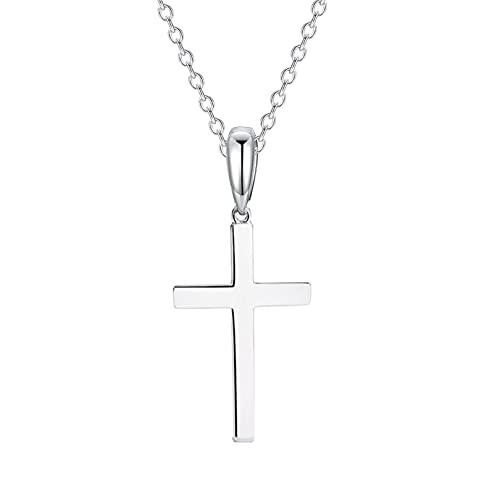 Kreuz Kette Halskette Damen Herren 925 Ketten | Jesus Silberkette Kreuz Kette Silber Damen Ketten Schmuck Damen Geschenk für Frauen Mutter Tochter Muttertag Herren mit Geschenkbox