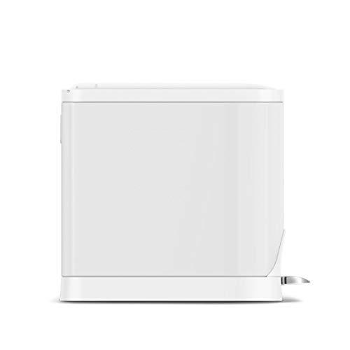 simplehumanバタフライステップダストボックス10LホワイトスチールCW2042