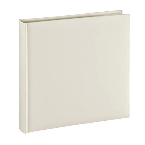Hama Fotoalbum Jumbo 30x30 cm (Fotobuch mit 80 weißen Seiten, Album für 320 Fotos zum Selbstgestalten und Einkleben) beige pastell
