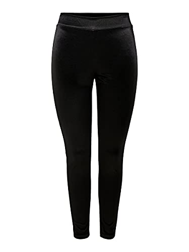 Only ONLZOE 7/8 Leggings JRS, Negro (Black Black), L para Mujer