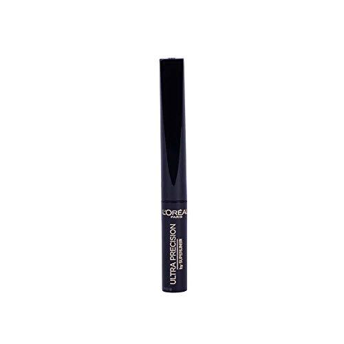 L'Oréal Paris Flüssiger Eyeliner mit weicher und flexibler Feder, Super Liner Ultra Precision, Nr. 01 Schwarz, 1 x 2 ml