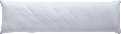 REDBEST Seitenschläferkissen, Stillkissen, Schwangerschaftskissen weiß Größe 40x140 cm - optimaler Feuchtigkeitsabtransport, Liegekomfort, waschbar - versteppter Bezug