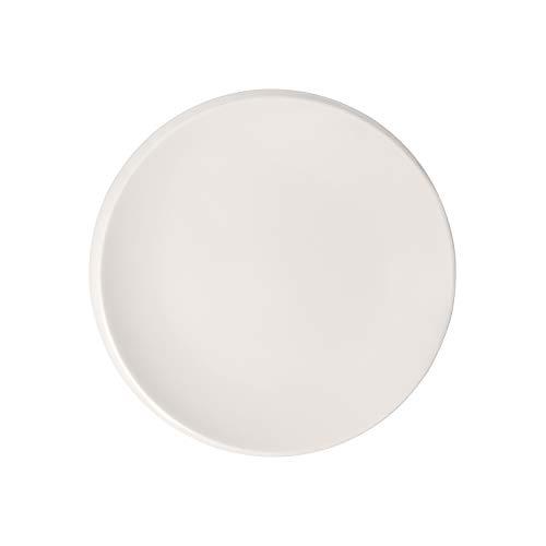 Villeroy & Boch - NewMoon Frühstücksteller, moderner Teller für Frühstück, Brunch, Kuchen oder Dessert aus Premium Porzellan, spülmaschinengeeignet, weiß, 24 cm