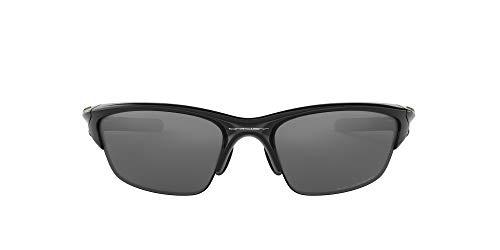 Oakley Men's OO9153 Half Jacket 2.0 Asian Fit Rectangular Sunglasses, Polished Black/Black Iridium Polarized, 62 mm