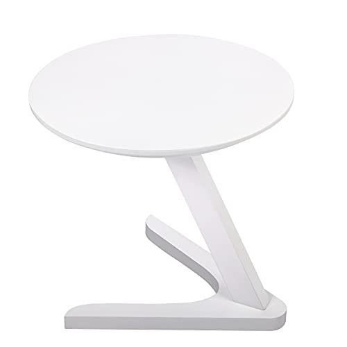 LVSOMT Mesa auxiliar redonda para salón, mesa de madera, mesa pequeña, mesa...