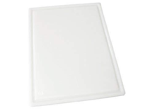 Winco CBI-1824 Grooved Cutting Board, Medium, White