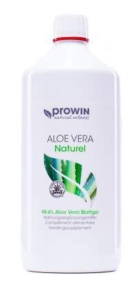 proWin ALOE VERA AloeVera Naturel Blattgel 1 Liter - Nahrungsergänzungsmittel zur Versorgung des Körpers