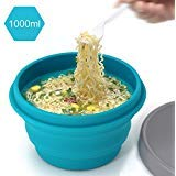 LAOPAO Collapsible Silicone Bowl with Lid 500ML 1000ML for...