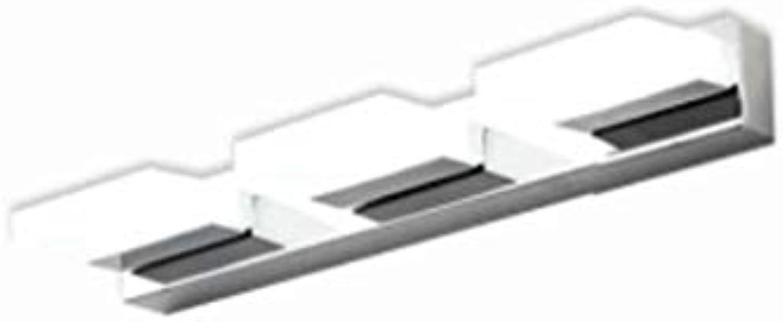 Spiegel Lampen LED-Spiegel Scheinwerfer, moderne Edelstahl Acryl Badezimmer Badezimmer Spiegelschrank Beleuchtung Wandleuchte Make-up-Leuchten Badezimmer leuchten (Farbe  Wei -45 cm)