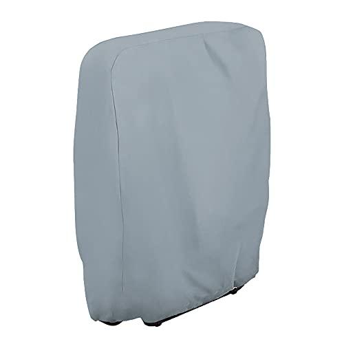 Submarine Klappstühle Schutzhülle Gartenstühle Abdeckung UV-Beständig Winddicht für Gartenmöbel Deckchair Liegestuhl Klappbar, Inklusive Oxford Tragetasche (Grau)