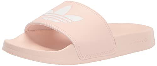 adidas Originals Women's Adilette Lite Sneaker, Pink Tint/White/Pink Tint, 11