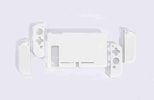 スイッチ ケース 分体式 Nintendo Switch カバー 薄型 Joy-Con用 親指キャップ ニンテンドースイッチ カバー 指紋防止 全面保護 ニンテンド ケース (色 : ホワイト, サイズ : セット)