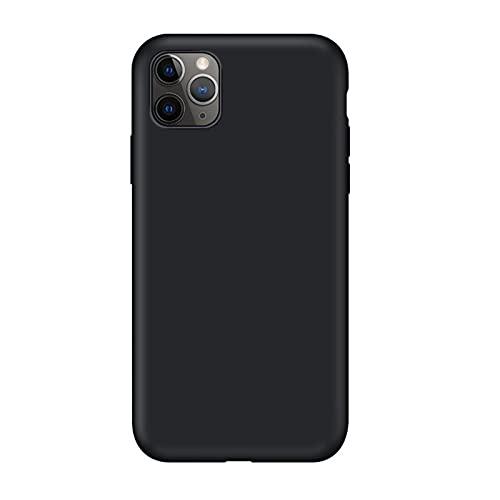 HHZY Cover in Silicone Liquido Compatibile con iPhone 13 PRO Max Custodia Protezione in Gomma Gel con Fodera in Microfibra Sottile Antiurto Back Cover,Nero,for 13 PRO Max