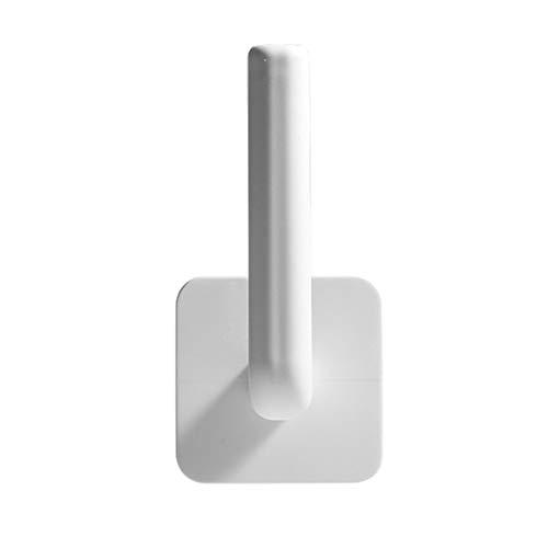 QXLG Toallero 1 unids Percha de Tejido Perchero para baño baño baño Autoadhesivo Toalla Accesorios bajo gabinete Papel Rodillo Práctico y fácil de Usar. (Color : White)