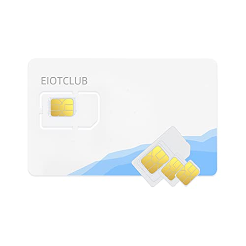 EIOTCLUB Prepaid 4G LTE SIM Card - No Contract Wireless Data Service - USA Compatible with Mobile Phone for Kids Watch, GPS Devices, Security Cameras, Car Locators, Hunting Trail Cameras