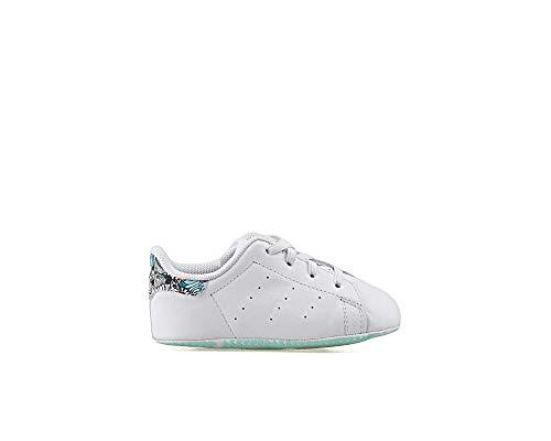 adidas Originals Stan Smith Crib - Zapatillas para niña, color Blanco, talla 21 EU