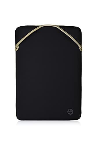 HP - PC Protective Reversibile Sleeve per Notebook fino a 14 , design reversibile, Nero Oro
