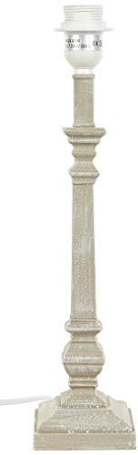 Better & Best Lámpara de mesa con columna cuadrada, color gris claro