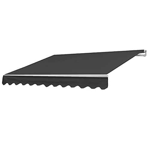 Mendler Alu-Markise T792, Gelenkarmmarkise Sonnenschutz 5x3m - Polyester anthrazit
