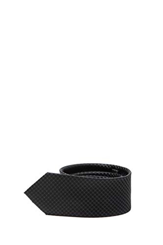 Calvin Klein Herren-Krawatte Micro Fantasie Schwarz, Schwarz One size