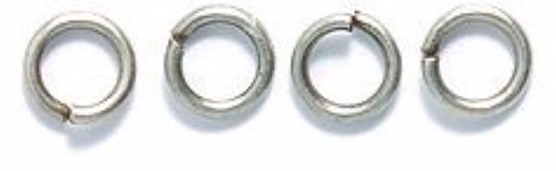 Shipwreck Beads Electroplated Brass 21-Gauge Jump Rings, 4mm, Metallic, Antique Silver, 21-Gram