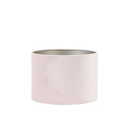 Light & Living lampenkap cilinder 40-40-30 cm Velours lichtroze voor E27 lampen voor woonkamer eetkamer slaapkamer enz.
