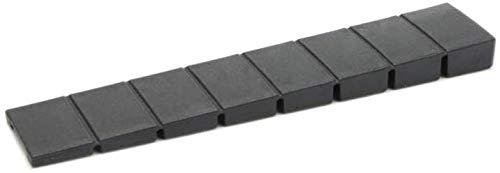 10 x sossai® Möbelkeile MKB-100 | Unterlegkeile/Ausgleichskeile aus Kunststoff mit integrierten Soll-Bruchstellen | Farbe: Schwarz